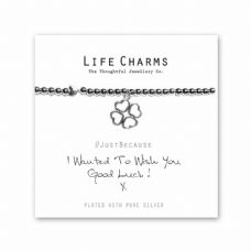 "Life Charms Bracelet - "" I Wanted To Wish You GOOD LUCK "" -  Lovely Gift Box"